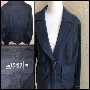 GAP Women's Navy blue Jacket sz XL